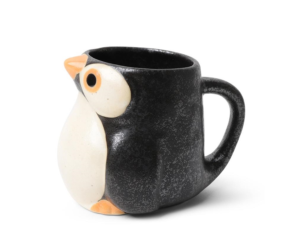 Mug Penguin Orange/Black