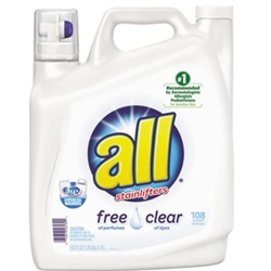162 OZ ALL FREE & CLEAR 2X LAUNDRY DETERGENT, UNSCENTED, 2/CS  46139