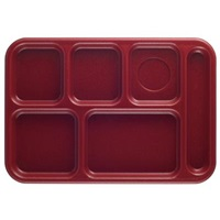 Cambro PS1014416 Penny-Saver School Tray 6-Compartment