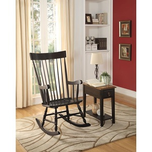 59297 BLACK ROCKING CHAIR