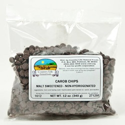 Carob Chips, Malt Sweetened - Non Hydrogenated