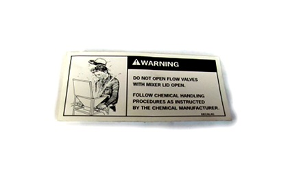 Rears Hopper Warning Decal