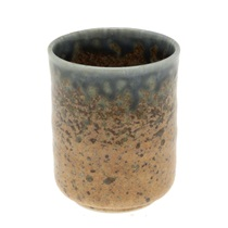 Blue Sand Crackle Tea Cup