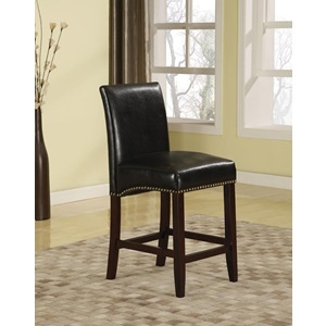 96169 BLACK PU COUNTER HEIGHT CHAIR