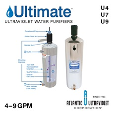 Ultimate™ Ultraviolet Water Purifiers 4-9 GPM (Lamp / Quartz Sleeve Included)