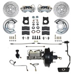 Power Disc Brake Conversion Kit - Drilled/Slotted Rotors Auto Trans.