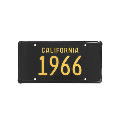 1966 CALIFORNIA LICENSE PLATE