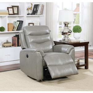59684 GRAY POWER RECLINER