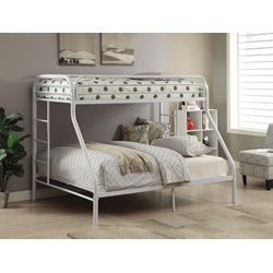 02052WH WHITE TWIN XL/QUEEN BUNK BED