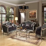 51540 ANT. PLATINUM SOFA W/3 PILLOWS