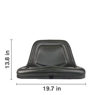 Lawn & Garden Deluxe High Steel Back Seat