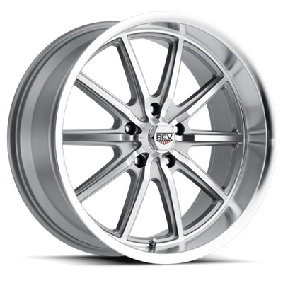110 Classic Series 17x7 5x120.65 - Anthracite/Machined