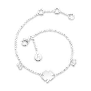 Daisy London Good Karma Bracelet, Four Leaf Clover
