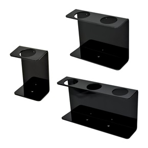 32oz Natural Oblong Dispenser Brackets, Black