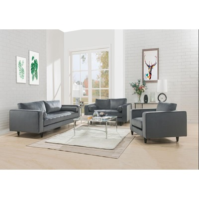 51070 GRAY SOFA W/2 PILLOWS
