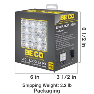 Flood Light - 16 Epistar LEDs