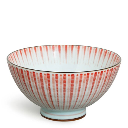 "Red Tokusa 4.5"" Rice Bowl"