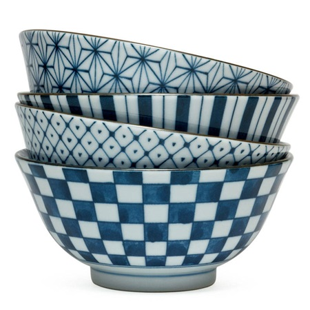 "Four Pattern 6"" Bowl Set"
