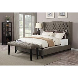 20897EK FAYE CHOCO EASTERN KING BED