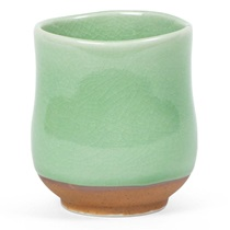 Crackle Green Teacup
