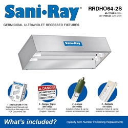 Sani•Ray RRDHO64-2S Included Accessories
