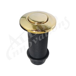 AIR BUTTON: #15 CLASSIC TOUCH, POLISHED BRASS LONG
