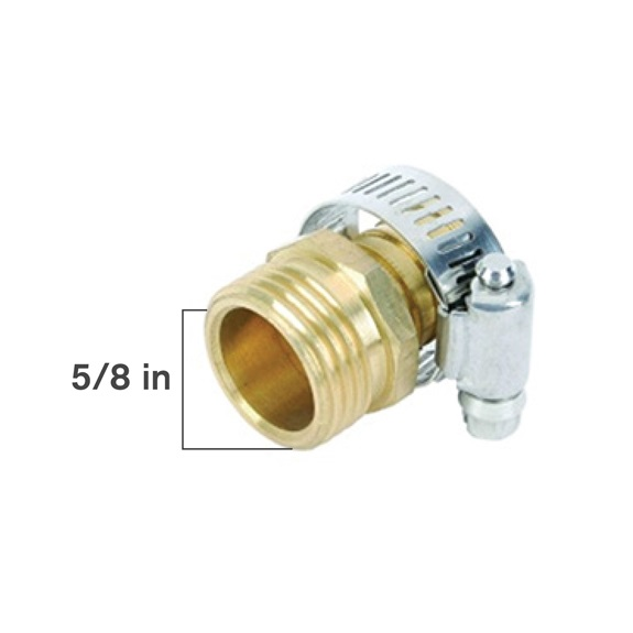 "5/8"" Brass Male Coupler-BOOK"