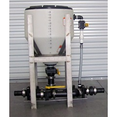 15 Gallon Chemical Eductor Tank & Frame Set