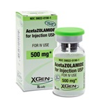Acetazolamine Injectable Powder 500mg, 10mL