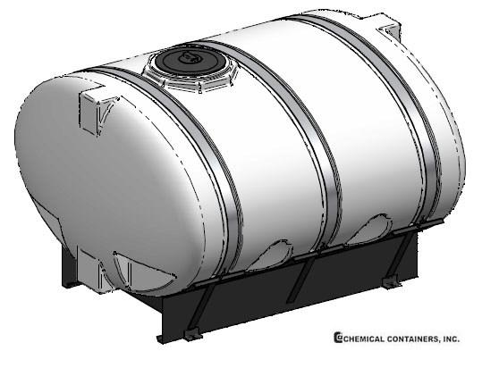 CCI - 1000 Gallon Elliptical Tank Skid & Bands