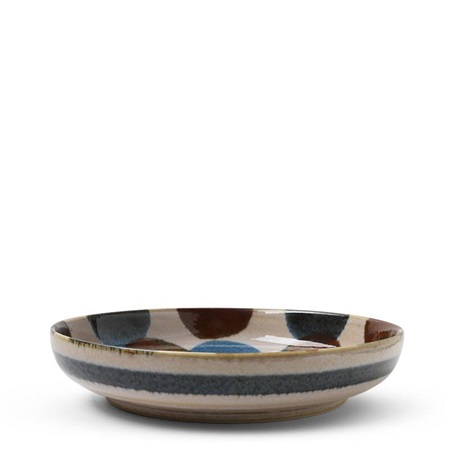 "Rustic Dots 7.75"" Shallow Bowl"