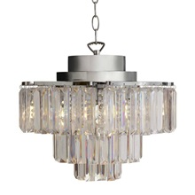 "16""H Cascading 3 Tier Cordless Chandelier with Remote Control"