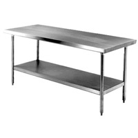 "FSE WT-3030-E Economy 30"" x 30"" Stainless Steel Work Table"
