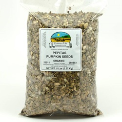 Pepitas (Pumpkin Seeds) - Organic (5lb Bag)