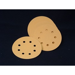 "Discs - Premium Gold Aluminum Oxide Hook & Loop 6"" 8-Hole"