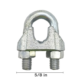 "5/8"" Malleable Wire Rope Clip"