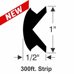"1"" x 1/2"" Rub Rail Insert Kit - 300 ft."