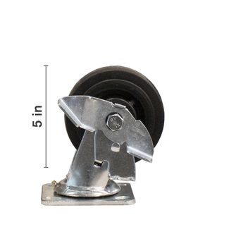 5 inch Swivel With Side Locking Brake