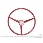 1965 Standard Steering Wheel (Bright Red)