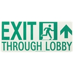 Lume-A-Lite Running Man Lobby Exit Sign with Arrow