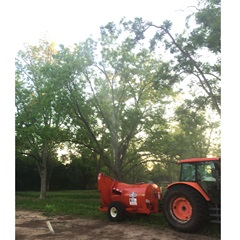 Rears Pecan Orchard Volute Add-On in Use on Sprayer