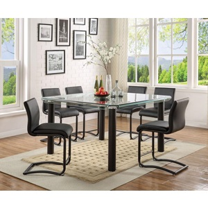 70255 BLACK COUNTER HEIGHT TABLE