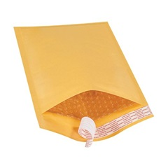 "6 X 10"" KRAFT BUBBLE MAILERS, SELF-SEAL, #0,"