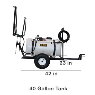 40 Gallon Trailer Lawn Sprayer