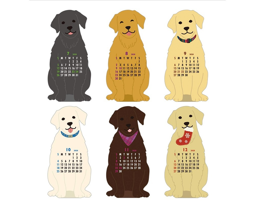 Calendar - Retriever Die Cut 2020