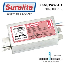 "Ballast: Surelite™ Instant Start, 220-240v 50/60Hz / 12"" - 64"" UV Lamps LED"