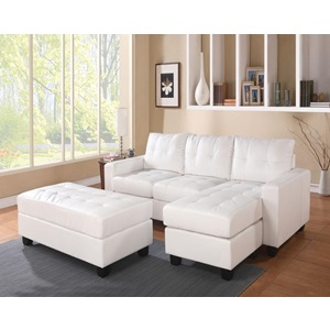 51210 WH REV. SECTIONAL SOFA & OTTOM