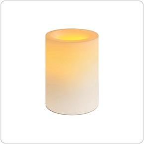 Candle Impressions® Rd Candle Flameless, White