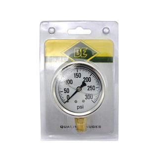 "Gly 30 PSI 2.5"" Face Bottom Mount Gauge Blister Pack"