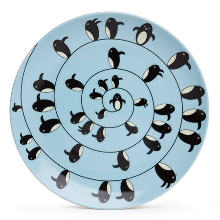 "PENGUIN 7.5"" PLATE - BLUE"